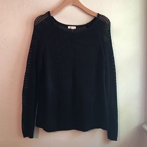 Urban Outfitters : black knit sweater